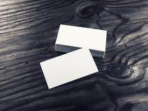 Weiße Visitenkarten Lizenzfreie Stockfotos