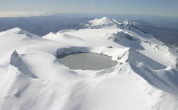 Weiße Vulkane Stockfotos