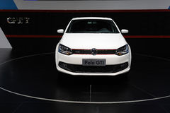 Weiße VW-Polo gti Frontseite Lizenzfreie Stockbilder