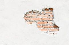 Weiße Wände, die knackten Lizenzfreie Stockfotografie