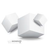 Weiße Würfel lokalisiert auf weißem Hintergrund Lizenzfreie Stockfotos