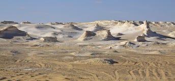 Weiße Wüste, Ägypten Stockbilder