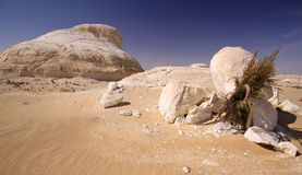 Weiße Wüste Lizenzfreies Stockfoto