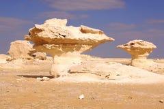 Weiße Wüstenstatue Stockfotografie