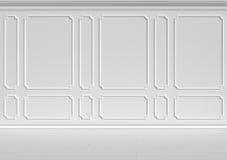 Weiße Wand in der klassischen Art lizenzfreie abbildung