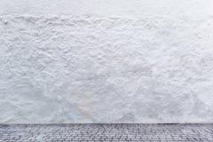 Weiße Wand mit Beschaffenheit und rau Stockfoto