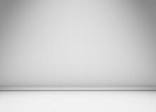 Weiße Wand mit Bodenformteil lizenzfreie abbildung