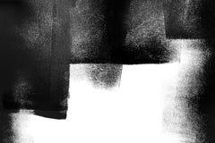 Weiße Wand teilweise gemalt im Schwarzen mit einer Farbenrolle Lizenzfreies Stockbild