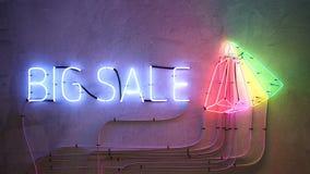Weiße Wandfront des großen Verkaufs stock video footage