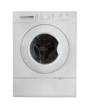 Weiße Waschmaschine Stockfotos