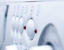Weiße Waschmaschine stockbilder