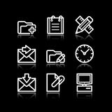Weiße Web-Ikonen, Set 27 Stockbilder