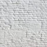 Weiße Weinlese-Backsteinmauer Lizenzfreie Stockfotografie
