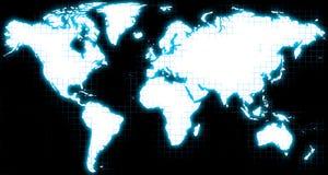 Weiße Weltkarte lizenzfreie abbildung