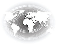 Weiße Weltkarte. Vektor Abbildung
