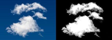 Weiße Wolke Stockfoto