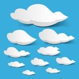 Weiße Wolken stock abbildung
