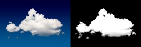 Weiße Wolkenausschnittmaske Lizenzfreie Stockbilder