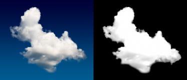 Weiße Wolkenausschnittmaske Lizenzfreie Stockfotos
