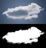 Weiße Wolkenausschnittmaske Lizenzfreies Stockfoto