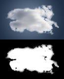 Weiße Wolkenausschnittmaske Stockbilder