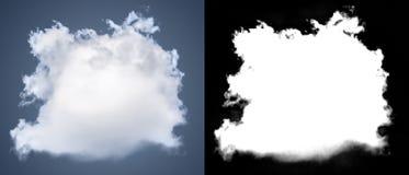 Weiße Wolkenausschnittmaske Stockfoto