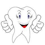 Weiße Zähne Stockfotografie