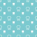 Weiße Zähne auf Türkishintergrund Zahnmedizinisches nahtloses des Vektors Stockbild