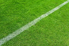 Weiße Zeilen des Fußballs Lizenzfreies Stockfoto