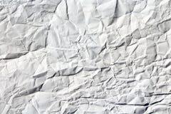 Weiße zerknitterte Papierbeschaffenheit lizenzfreie stockfotografie
