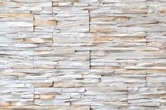 Weiße Ziegelsteinsteinwandbeschaffenheit stockfotografie