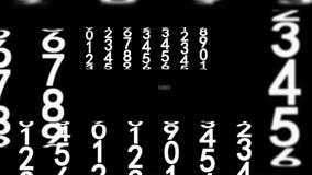 Weiße Ziffern auf Schwarzem vektor abbildung
