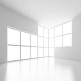 Weißer abstrakter Innenraum Stockfotos