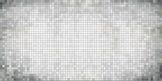 Weißer abstrakter Mosaikhintergrund Stockfotos