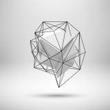 Weißer abstrakter polygonaler Hintergrund Lizenzfreie Stockfotografie