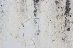 Weißer alter schmutziger gebrochener Wandbeschaffenheitshintergrund stockfoto