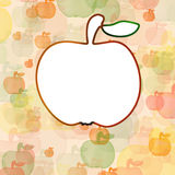 Weißer Apfel auf Hintergrund mit mult Lizenzfreie Stockfotos