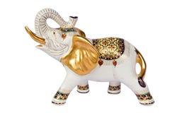 Weißer Auslegungelefant ist siamesisch, lizenzfreies stockfoto