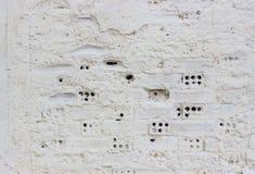 Weißer Backsteinmauerbeschaffenheitshintergrund stockbild
