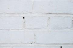 Weißer Backsteinmauerbeschaffenheitshintergrund Stockfotos