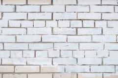 Weißer Backsteinmauerbeschaffenheitshintergrund Lizenzfreies Stockbild