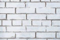 Weißer Backsteinmauerbeschaffenheitshintergrund Stockfotografie