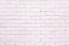 Weißer Backsteinmauerhintergrund Lizenzfreies Stockbild