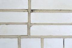 Weißer Backsteinmauerhintergrund Lizenzfreie Stockfotos