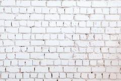 Weißer Backsteinmauerhintergrund Beschaffenheit einer Steinwand Backsteinmauer gefärbt in der weißen Farbe Lizenzfreie Stockfotografie