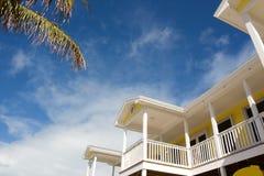 Weißer Balkon stockbild