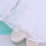 Weißer Ballettröckchenrock Stockfoto