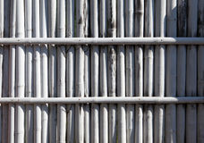 Weißer Bambuszaun Lizenzfreie Stockfotos