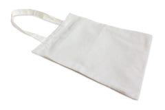 Weißer Baumwollbeutel getrennt auf Weiß Lizenzfreies Stockfoto