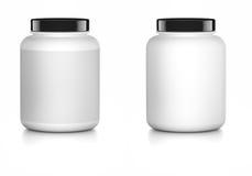 Weißer Behälterspott oben Stockfotografie